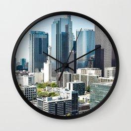 LA Skyscrapers Wall Clock