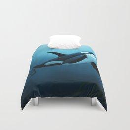 """The Dreamer"" by Amber Marine ~ Orca / Killer Whale Art, (Copyright 2015) Duvet Cover"