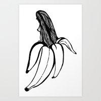 freud Art Prints featuring Freud by  randimae