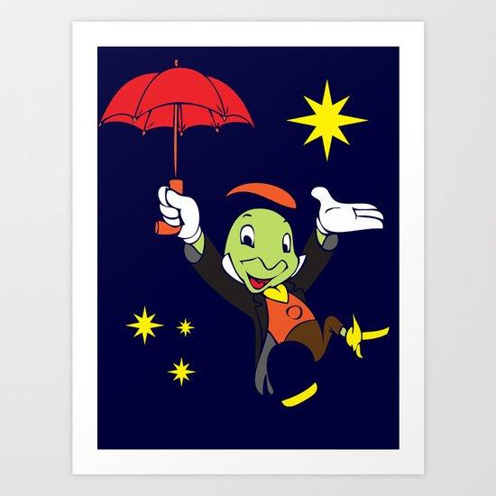 Jiminy Cricket Art Print