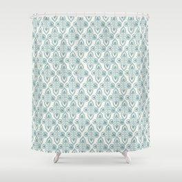 Star Block Print Shower Curtain