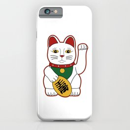 Maneki Neko - lucky cat iPhone Case