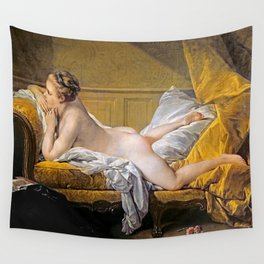 Nude on sofa (Miss O Murphy) - Francois Boucher (1703-1770) Wall Tapestry
