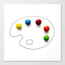 Artist's chocolate Canvas Print