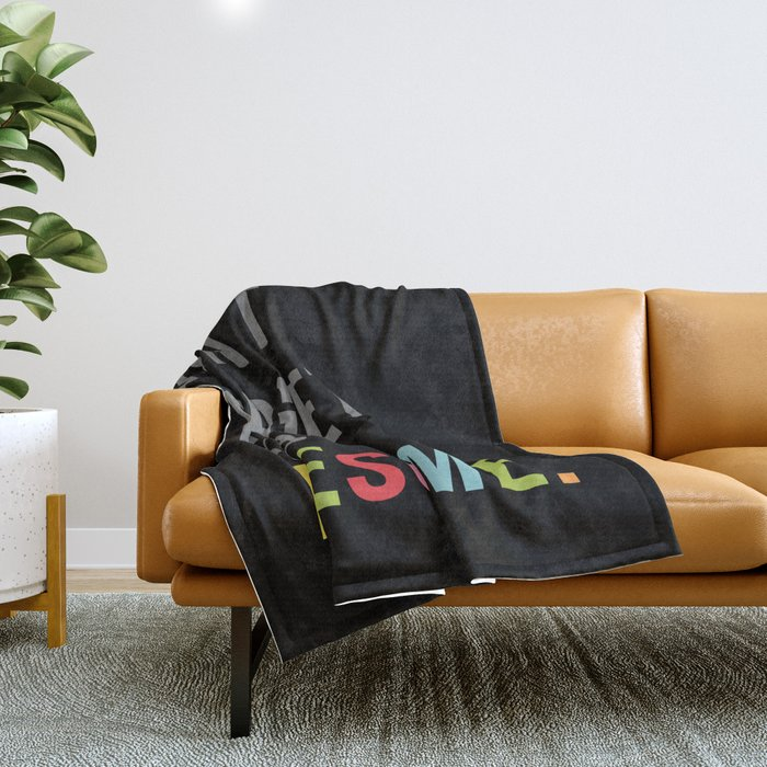 Be Awesome 2 Funny Quote Throw Blanket