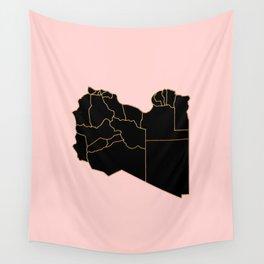 Libya map Wall Tapestry