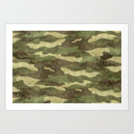 Distressed Camouflage Art Print