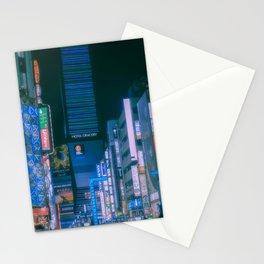 Shinjuku lights at night, Cyberpunk/Blade runner vibes Stationery Cards