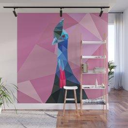 Geometric cassowary Wall Mural