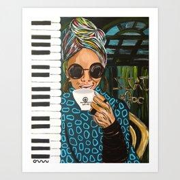N33 Jazz Cafe Art Print