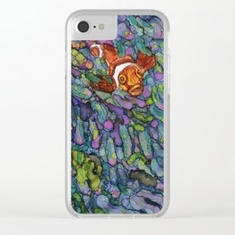 Clownfish - Alcohol Ink Clear iPhone Case