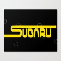 subaru Canvas Prints featuring Subaru logo by ClayUngashick