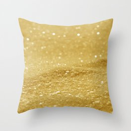 Glitter Gold Throw Pillow