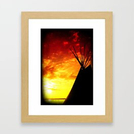 Tipi Sunset Framed Art Print