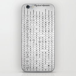 Ancient And Mystical Alphabets iPhone Skin