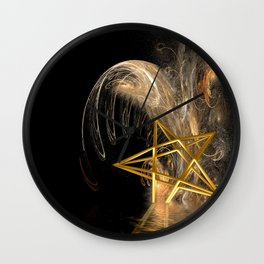 Pentagram Rising Wall Clock