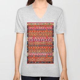 N120 - Fresh Bohemian Traditional Moroccan Style Artwork. Unisex V-Neck