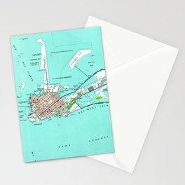 Vintage Map of Key West Florida (1962) Stationery Cards