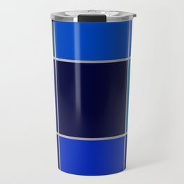 Cobalt , patchwork Travel Mug