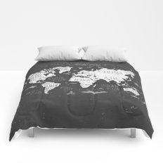 The World Map B/W Comforters