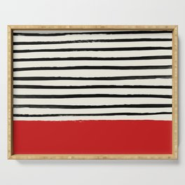 Red Chili x Stripes Serving Tray