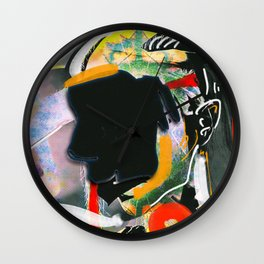 The girl without a face Wall Clock