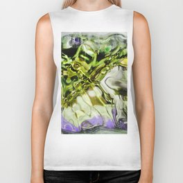 432 - abstract glass design Biker Tank