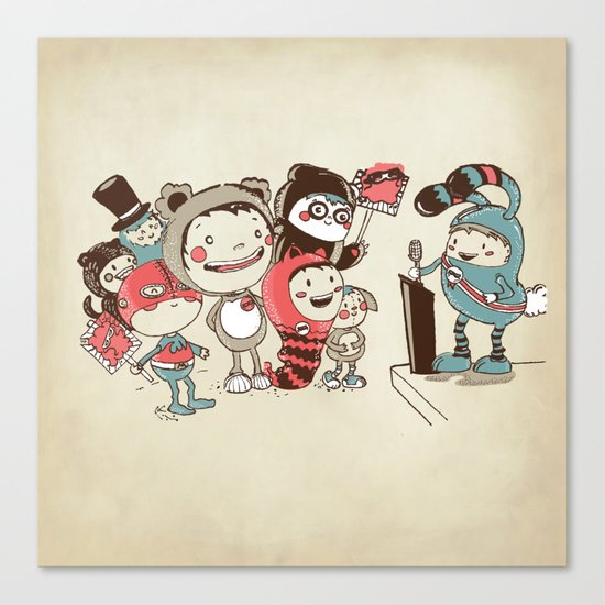 Costume Party Canvas Print
