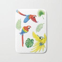 Tropical Feathers Bath Mat