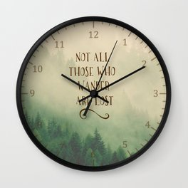 Not all those who Wander Wall Clock