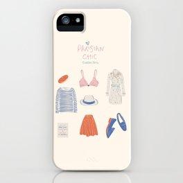 Parisian Chic: Starter Pack iPhone Case