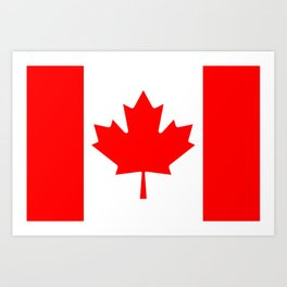 Flag of Canada - Authentic High Quality image Art Print