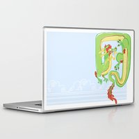 butt Laptop & iPad Skins featuring Goofy Butt by hollypop