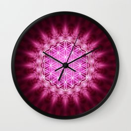 FLOWER OF LIFE - SACRED GEOMETRY - HARMONY & BALANCE Wall Clock