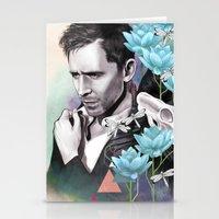 tom hiddleston Stationery Cards featuring Tom Hiddleston by Yan Ramirez