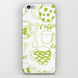 Coffee Pattern iPhone Skin