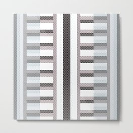 Stripe Geometric Metal Print