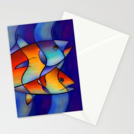 Cassanella - dream fish Stationery Cards