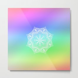 Colorful Mandala Deisign Metal Print