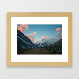 Road to the Clouds Framed Art Print
