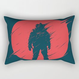 Red Sphere Rectangular Pillow