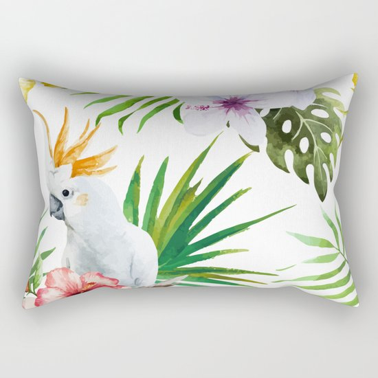 Tropical Bird Pattern 03 Rectangular Pillow