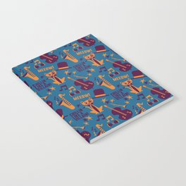 Cool Cat Pattern by Holly Shropshire Notebook