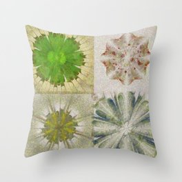 Grasshouse Configuration Flower  ID:16165-050526-69250 Throw Pillow