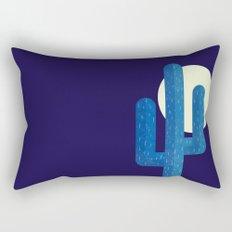 Desert Cactus by Night Rectangular Pillow