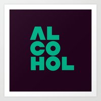 alcohol Art Prints featuring Alcohol by Bálint Magyar
