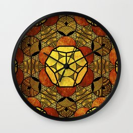 Sacred Geometry for your daily life -  Platonic Solids - ETHER COLOR Wall Clock