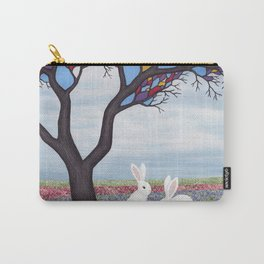 bunnies and the stained glass tree Carry-All Pouch