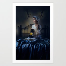 Little Night Fright Art Print