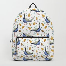 Pattern with the Canadian goose. Backpack